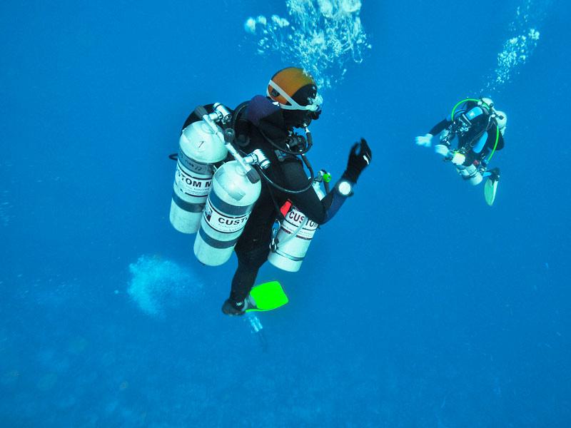 Tri Mix Scuba Diving : Normoxic trimix diving attitude